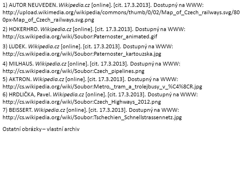 1) AUTOR NEUVEDEN. Wikipedia. cz [online]. [cit. 17. 3. 2013]